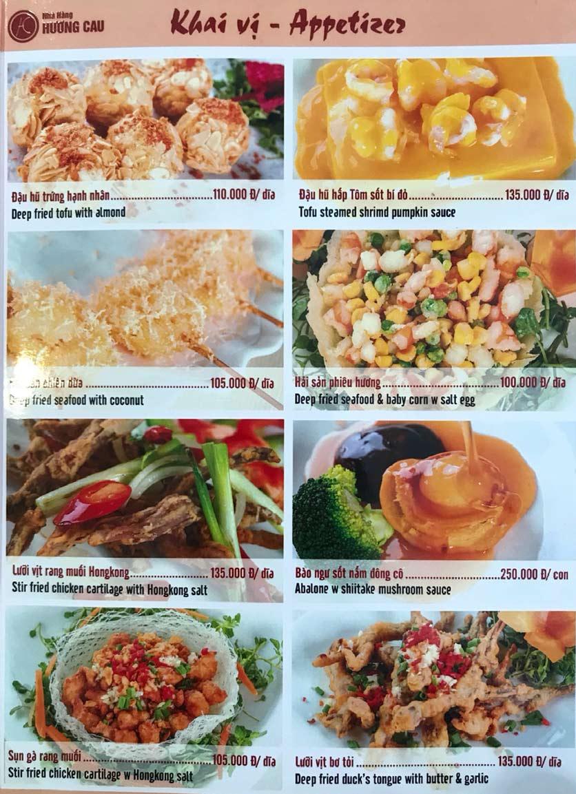 Menu Hương Cau 2 - Tân Canh 3