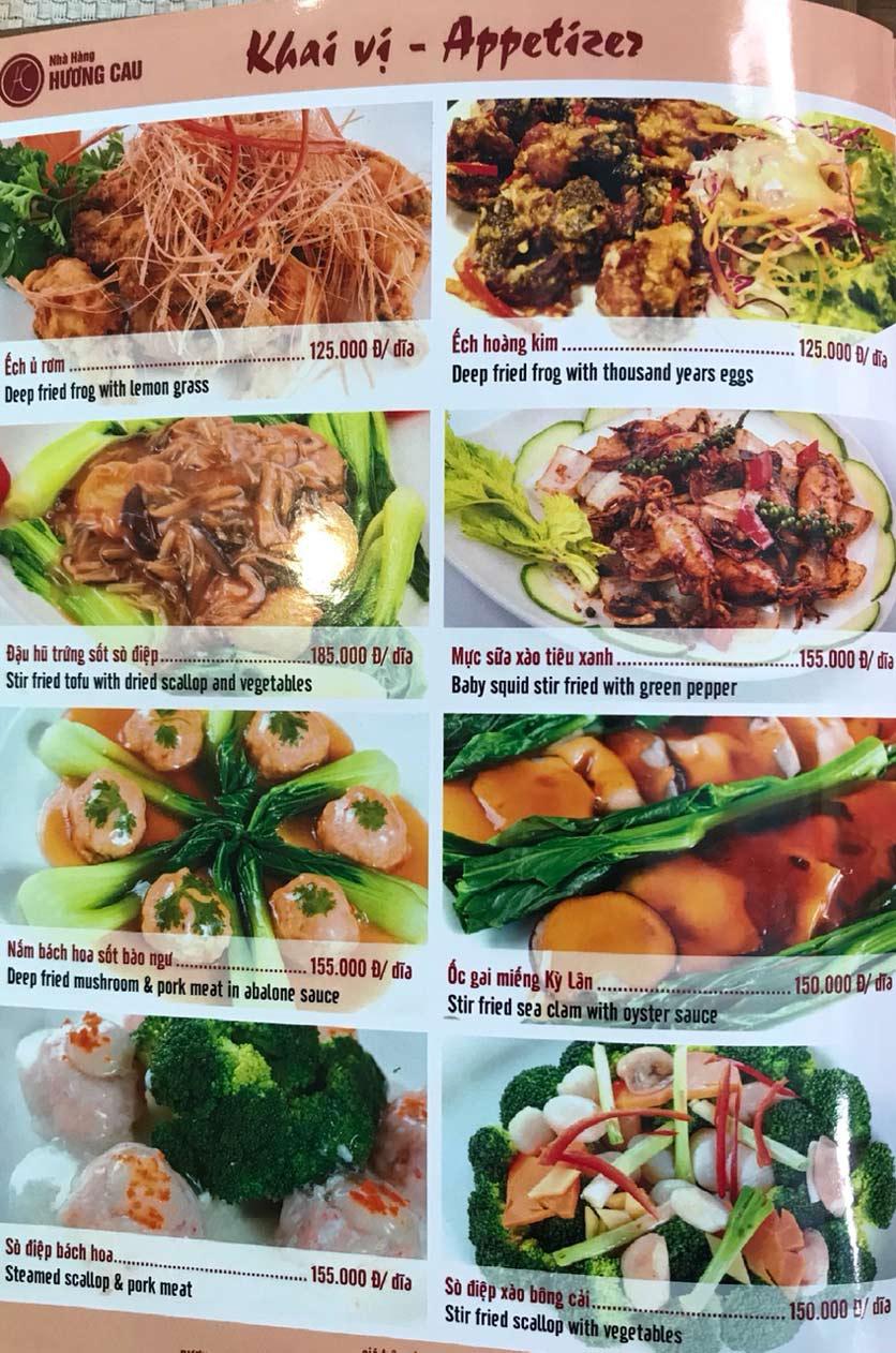 Menu Hương Cau 2 - Tân Canh 4