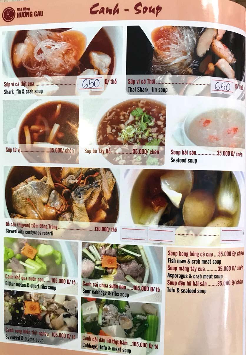 Menu Hương Cau 2 - Tân Canh 6