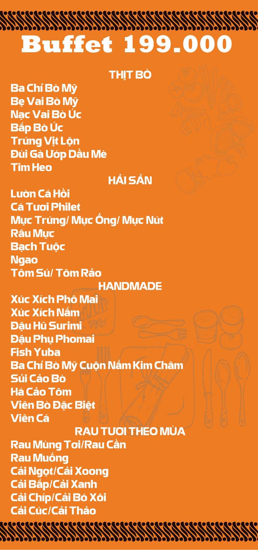 Menu Lẩu Băng Chuyền Kichi-Kichi - Linh Đàm 1