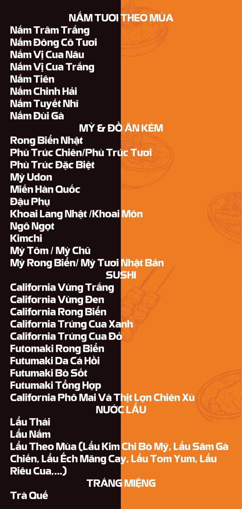 Menu Lẩu Băng Chuyền Kichi-Kichi - Linh Đàm 2