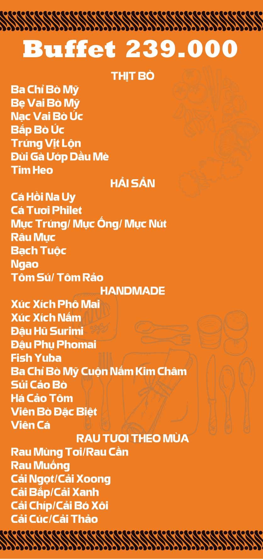 Menu Lẩu Băng Chuyền Kichi-Kichi - Linh Đàm 3