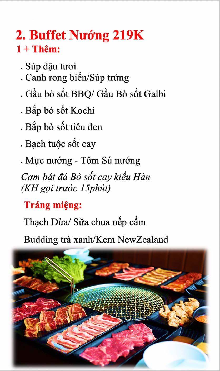 Menu Kochi BBQ - Hà Đông  3