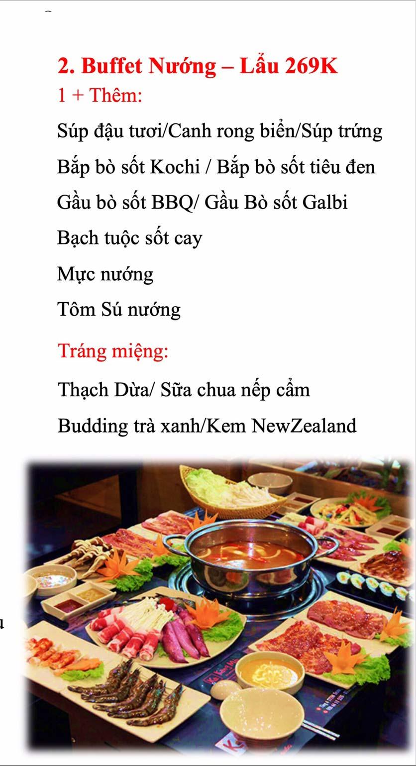 Menu Kochi BBQ - Hà Đông  5