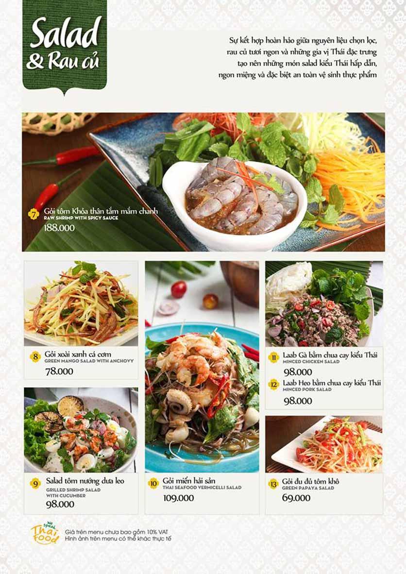 Menu Bếp Thái Koh Yam - Quang Trung 4