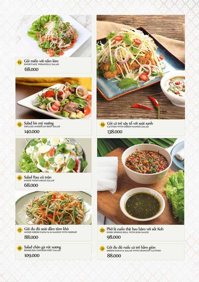 Menu Bếp Thái Koh Yam - Quang Trung 5
