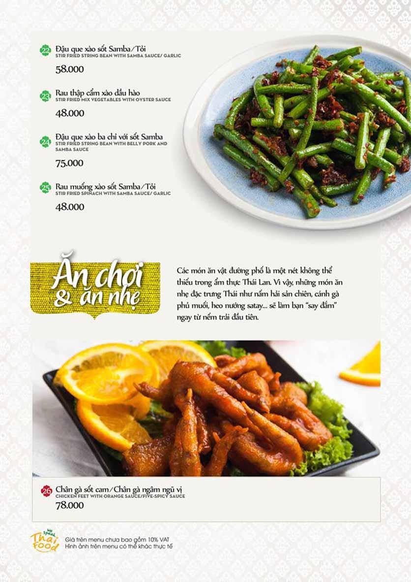 Menu Bếp Thái Koh Yam - Quang Trung 6