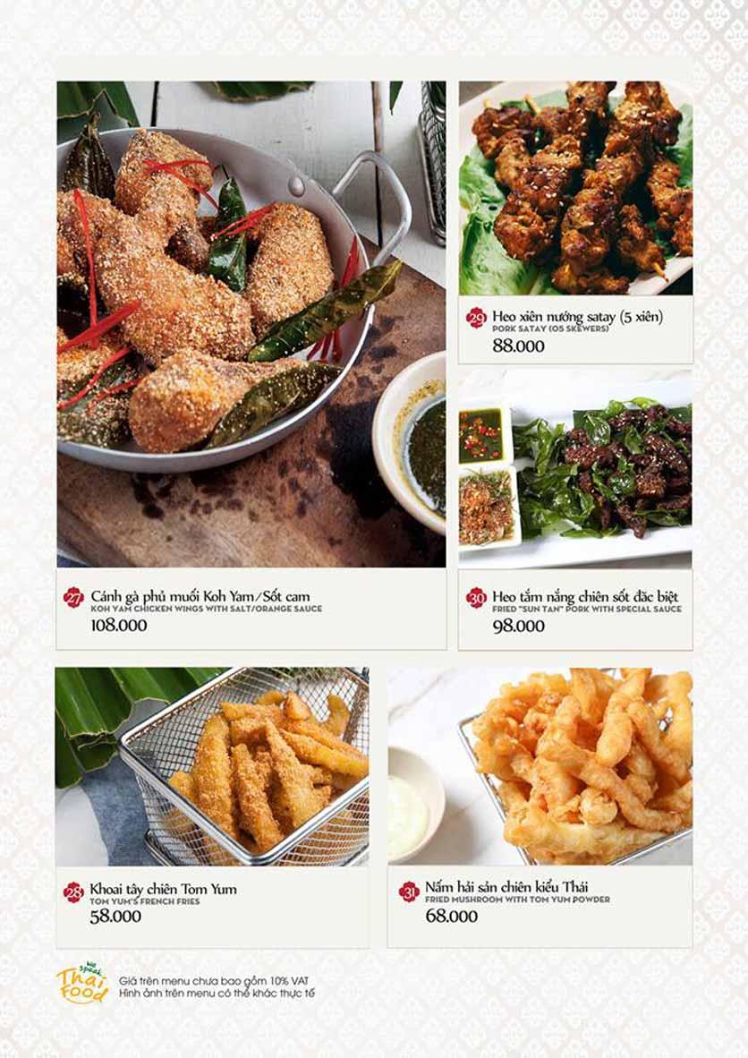 Menu Bếp Thái Koh Yam - Quang Trung 7