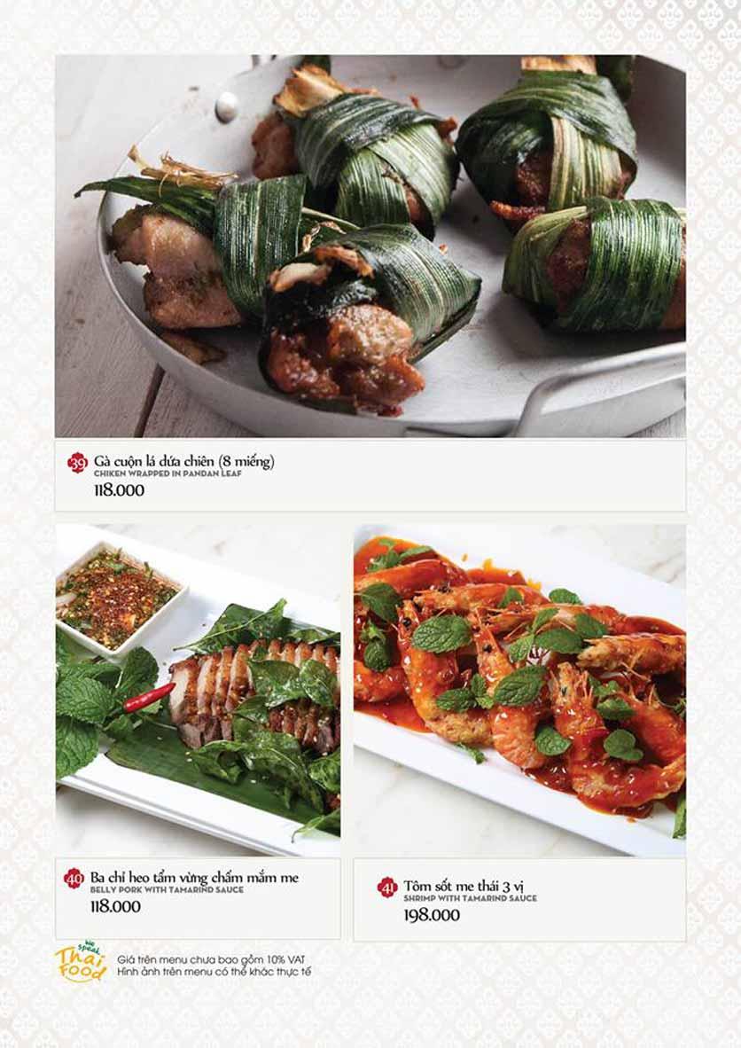 Menu Bếp Thái Koh Yam - Quang Trung 10