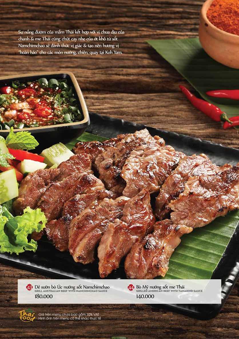 Menu Bếp Thái Koh Yam - Quang Trung 12