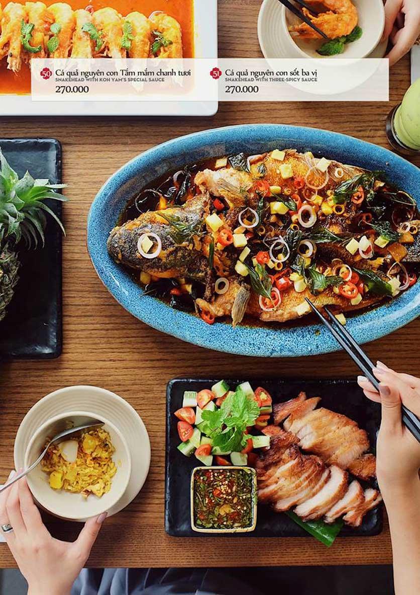 Menu Bếp Thái Koh Yam - Quang Trung 14