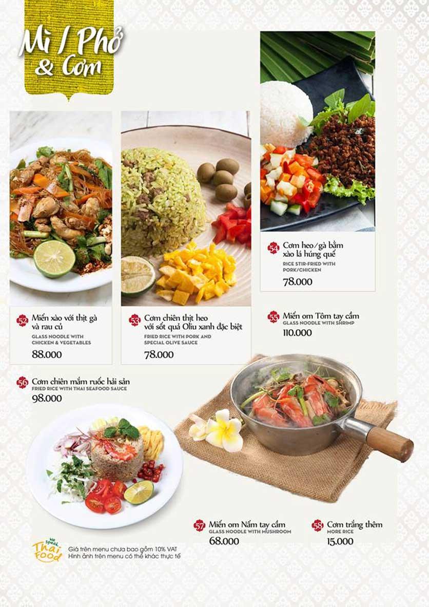 Menu Bếp Thái Koh Yam - Quang Trung 15