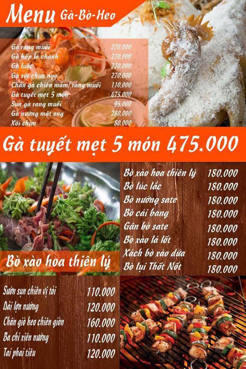 Menu Lẩu Mắm Ninh Kiều - Ô Chợ Dừa 3