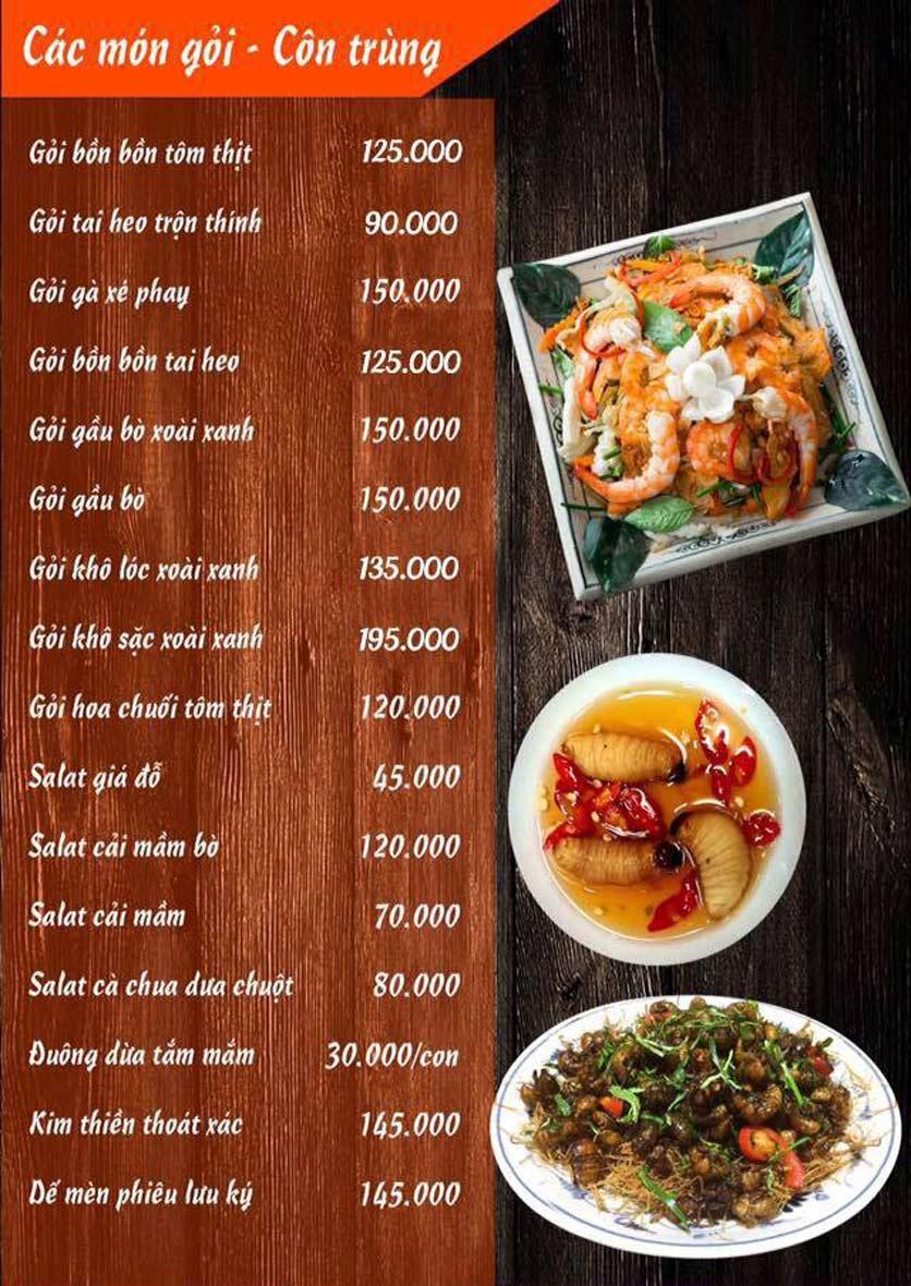 Menu Lẩu Mắm Ninh Kiều - Ô Chợ Dừa 4