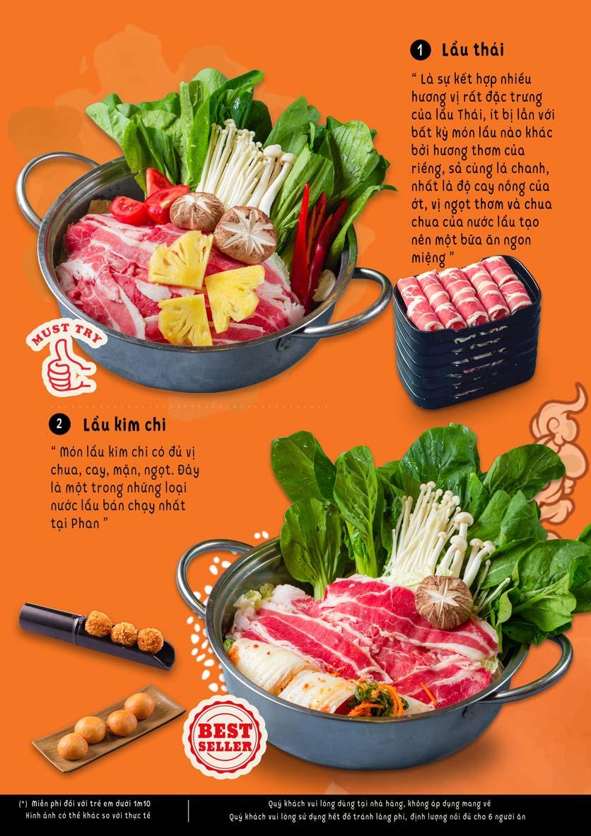Menu Lẩu Phan - Triều Khúc 1