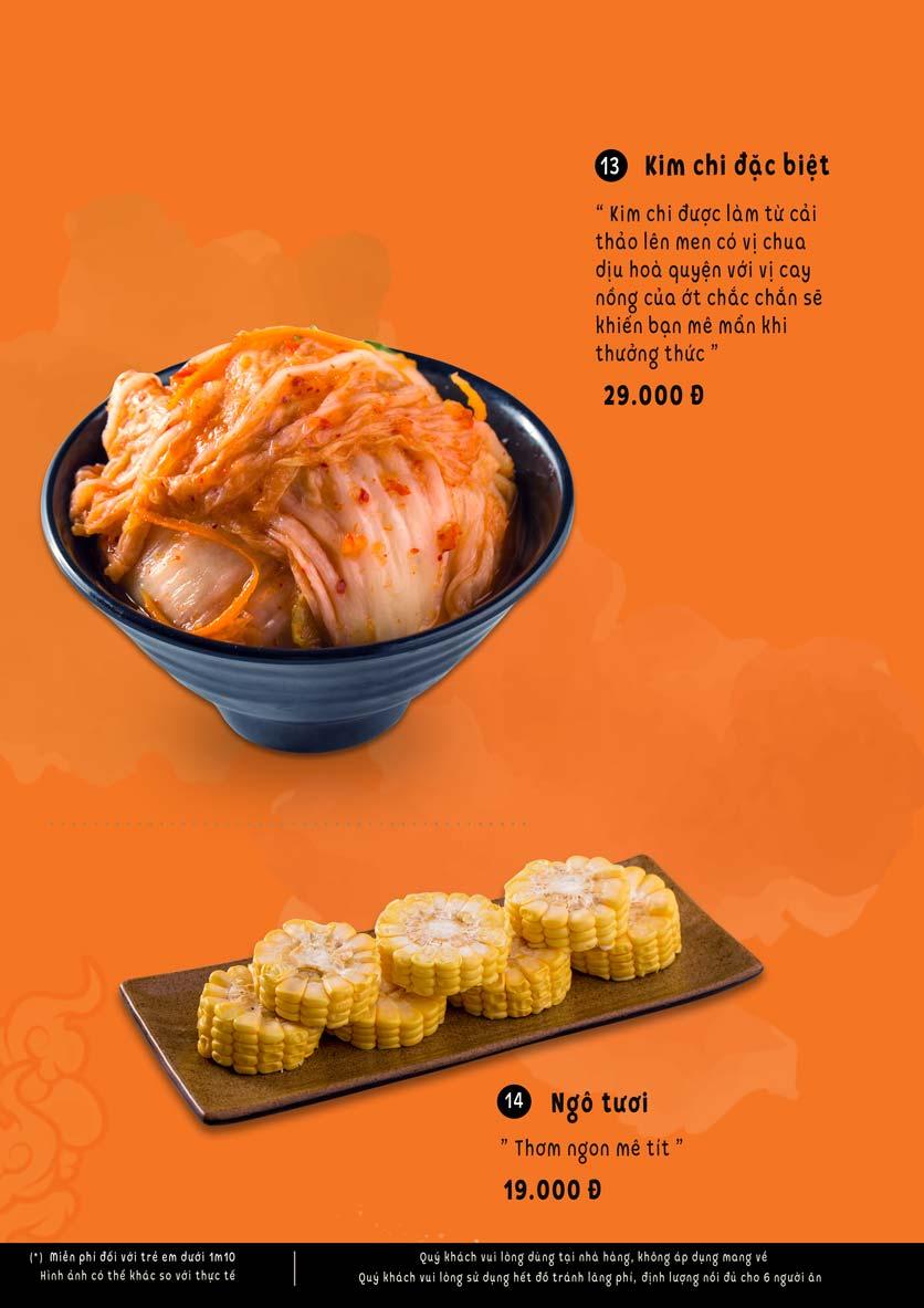 Menu Lẩu Phan - Triều Khúc 11