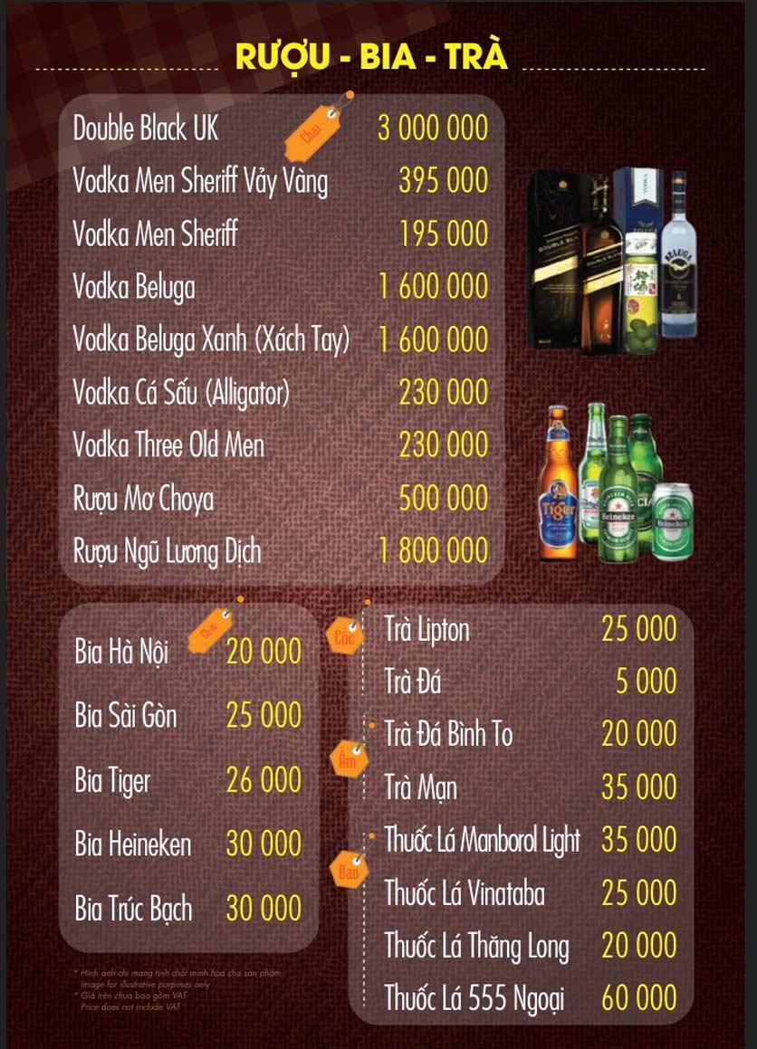 Menu Linh Nhạn Restaurant– Xuân Thủy 16