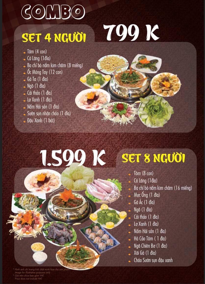 Menu Linh Nhạn Restaurant– Xuân Thủy 6