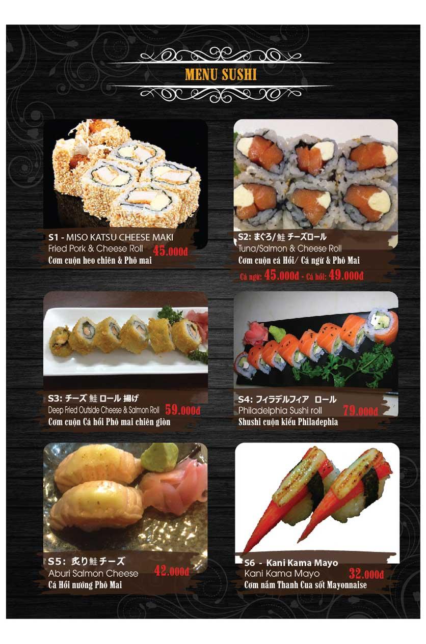 Menu Miya Sushi & BBQ  1