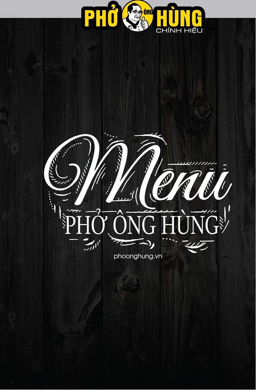 Menu Phở Ông Hùng – Huỳnh Thúc Kháng 1