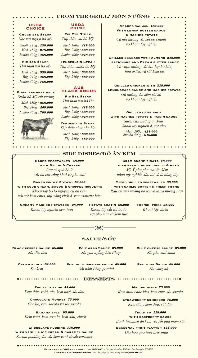 Menu Moo Beef Steak - Nguyễn Thị Định  2