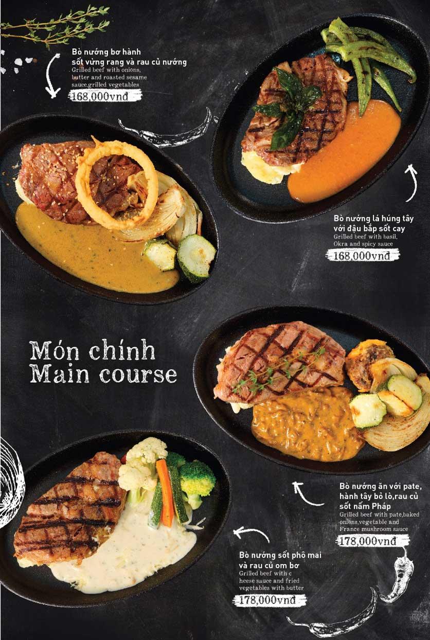 Menu Moo Moo Steak - Times City 12