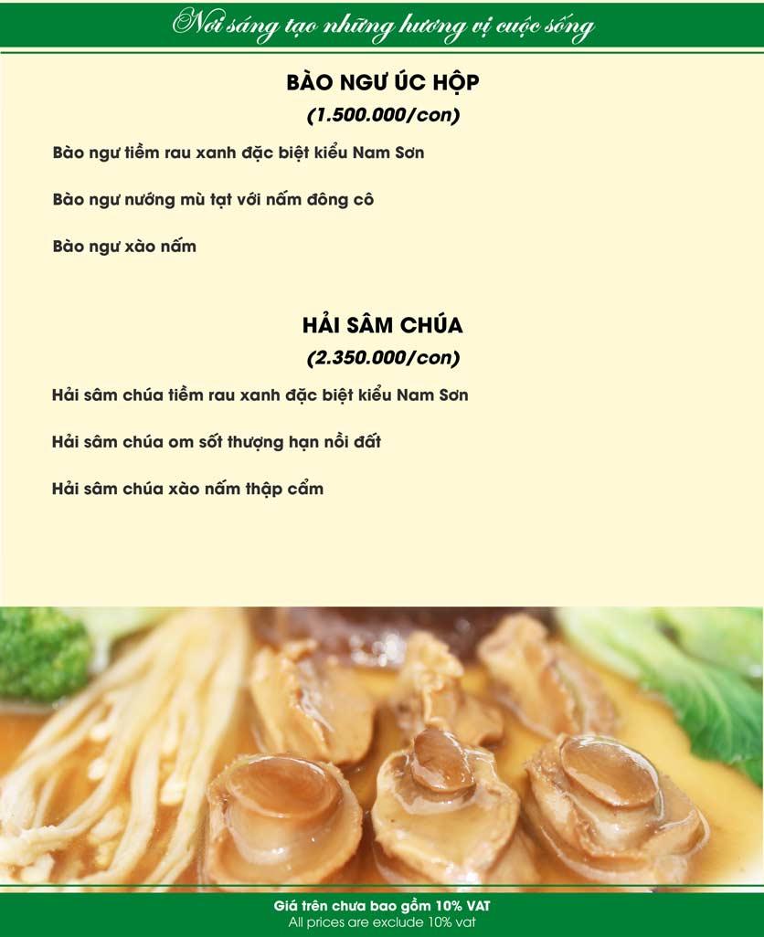 Menu Nam Sơn - Giải Phóng 13