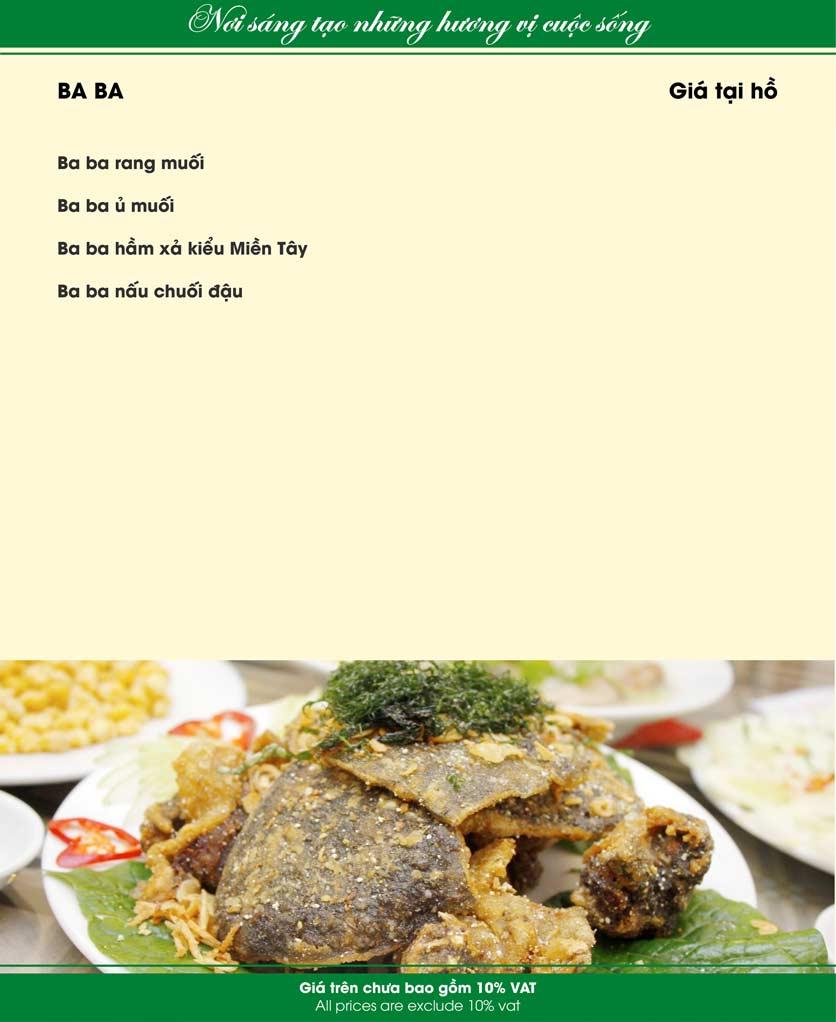 Menu Nam Sơn - Giải Phóng 23