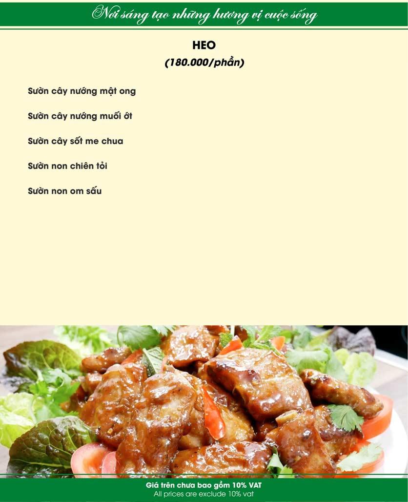 Menu Nam Sơn - Giải Phóng 24