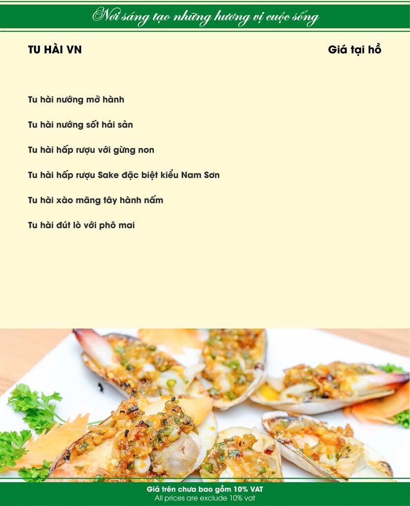 Menu Nam Sơn - Giải Phóng 9