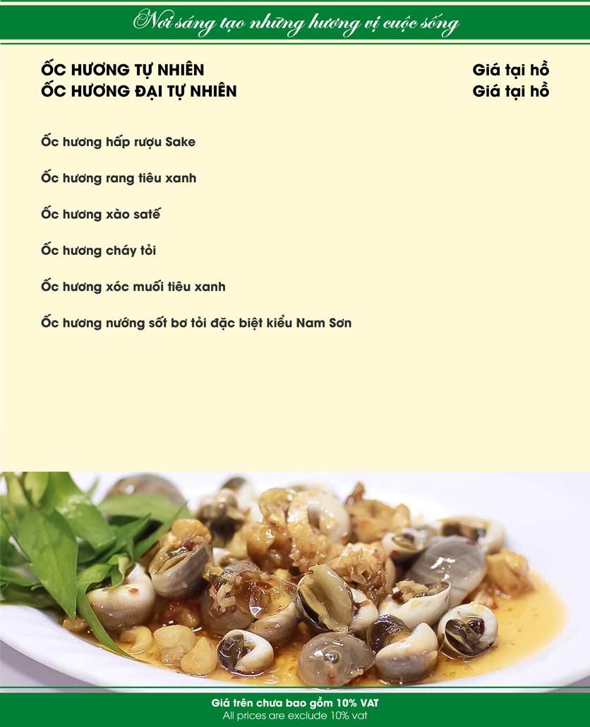 Menu Nam Sơn - Giải Phóng 12