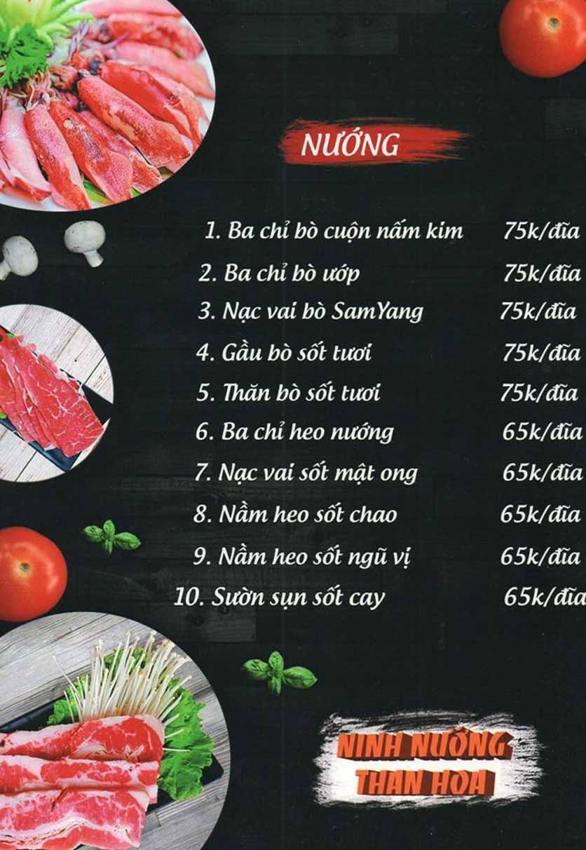 Menu Ninh Nướng Than Hoa - Hà Đông 5