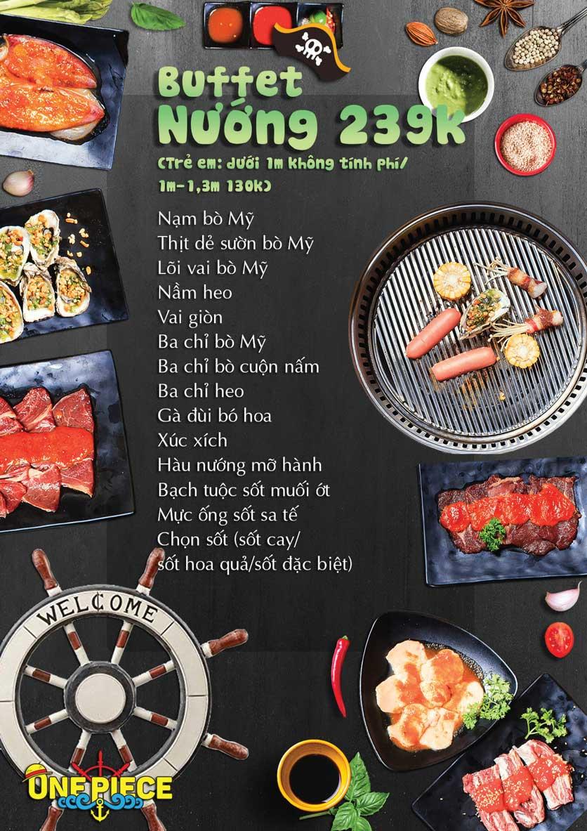 Menu One Piece - Thái Hà 2