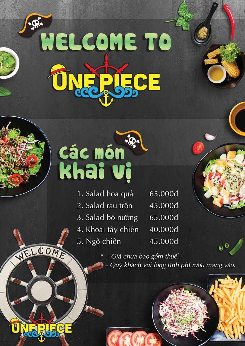 Menu One Piece - Thái Hà 8