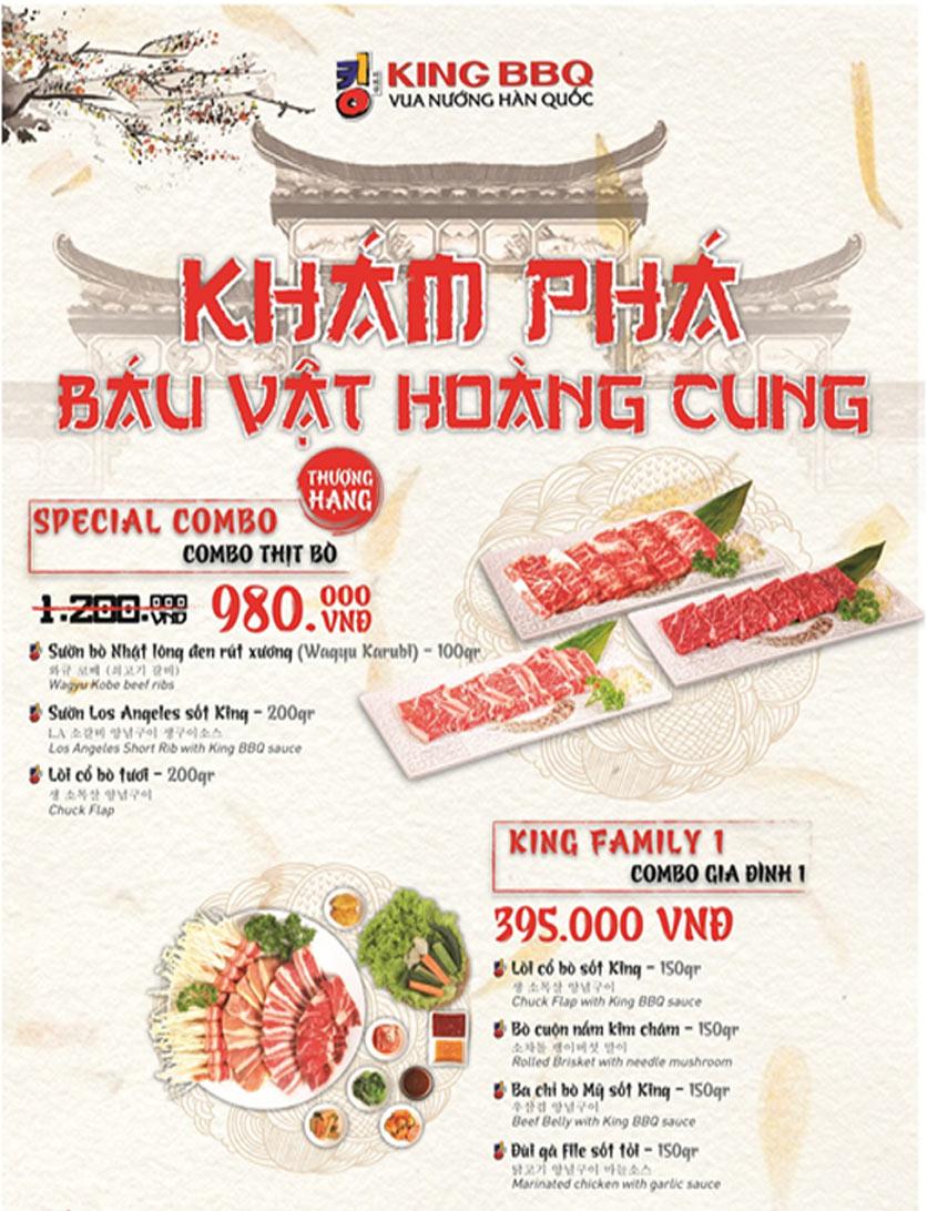 Menu King BBQ - Vincom Lê Thánh Tôn 1