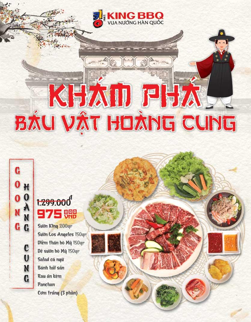 Menu King BBQ - Vincom Lê Thánh Tôn 2