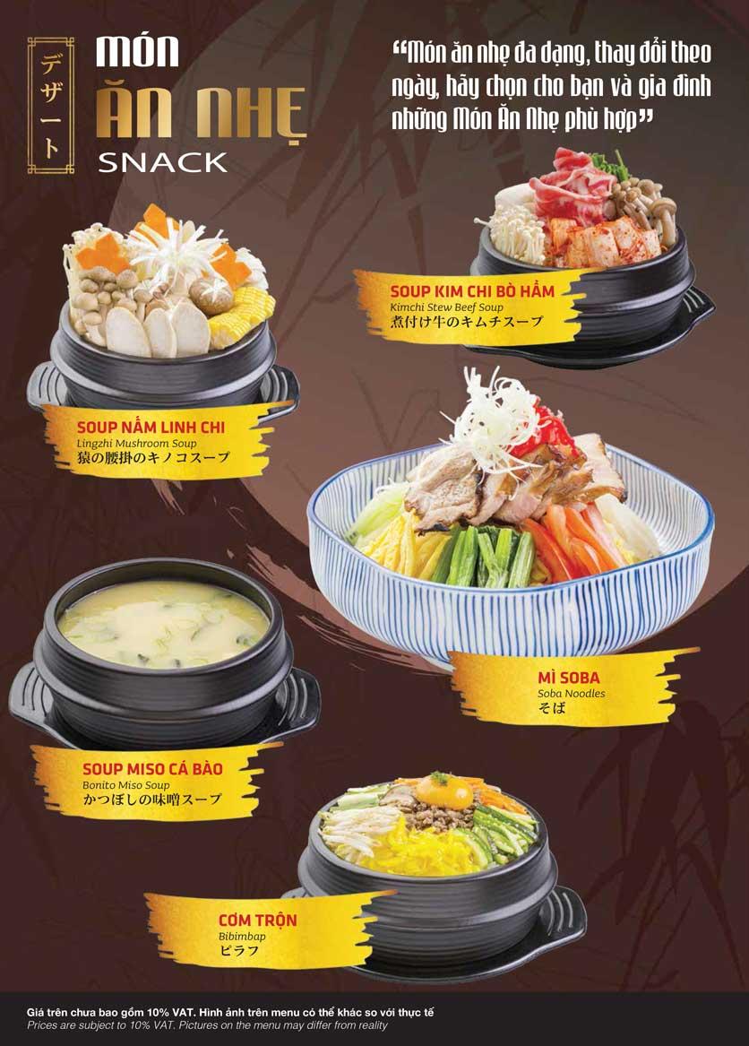 Menu Samurai BBQ - Âu Cơ  3