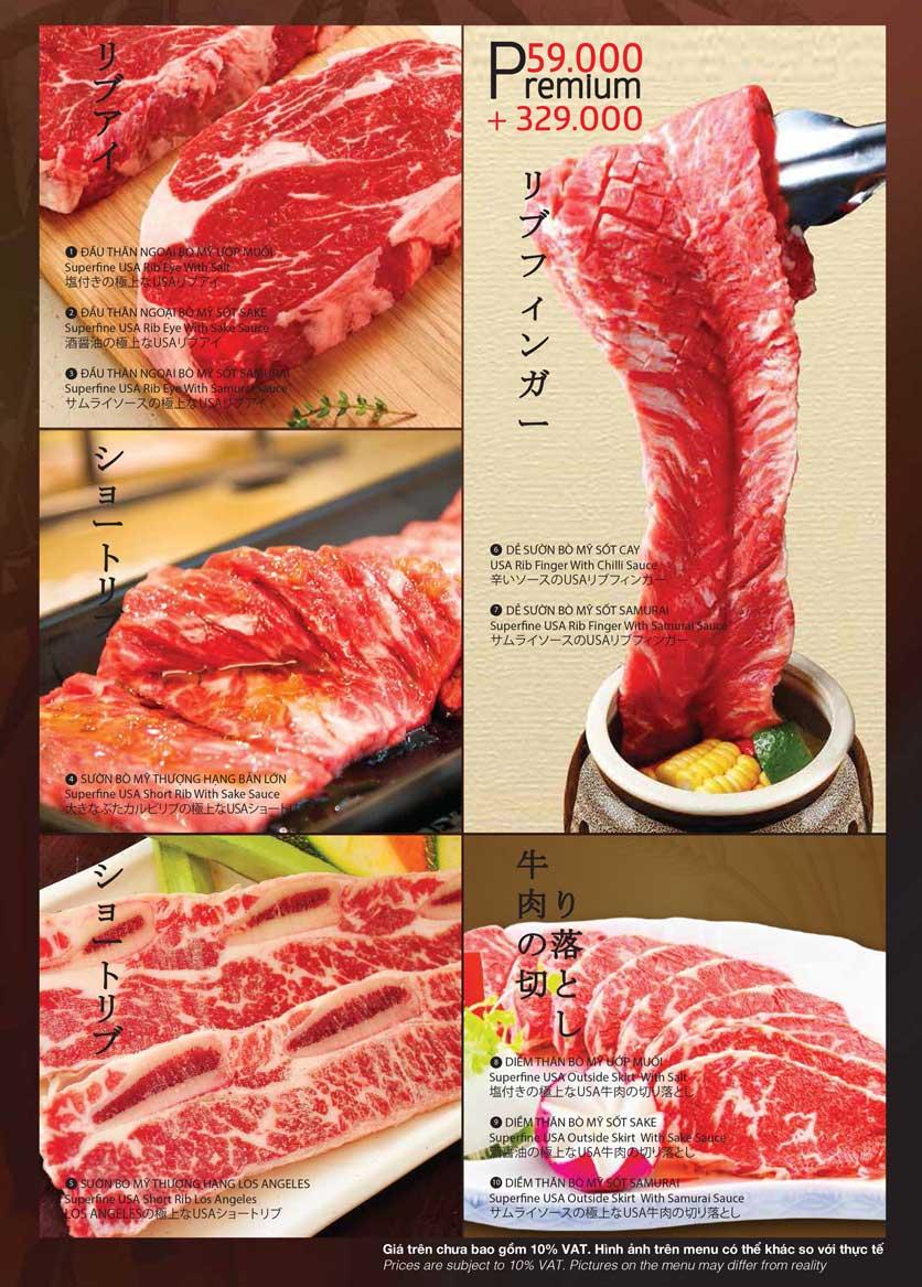 Menu Samurai BBQ - Âu Cơ  5