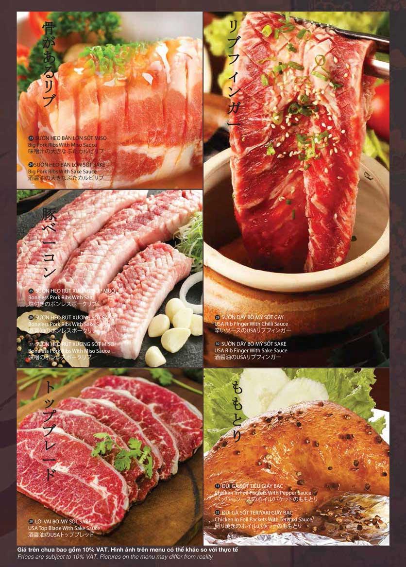Menu Samurai BBQ - Âu Cơ  8