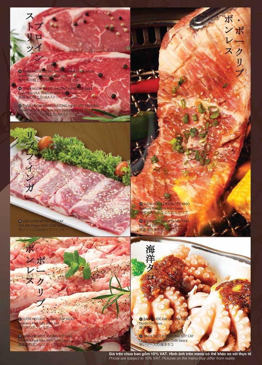 Menu Samurai BBQ - Âu Cơ  9