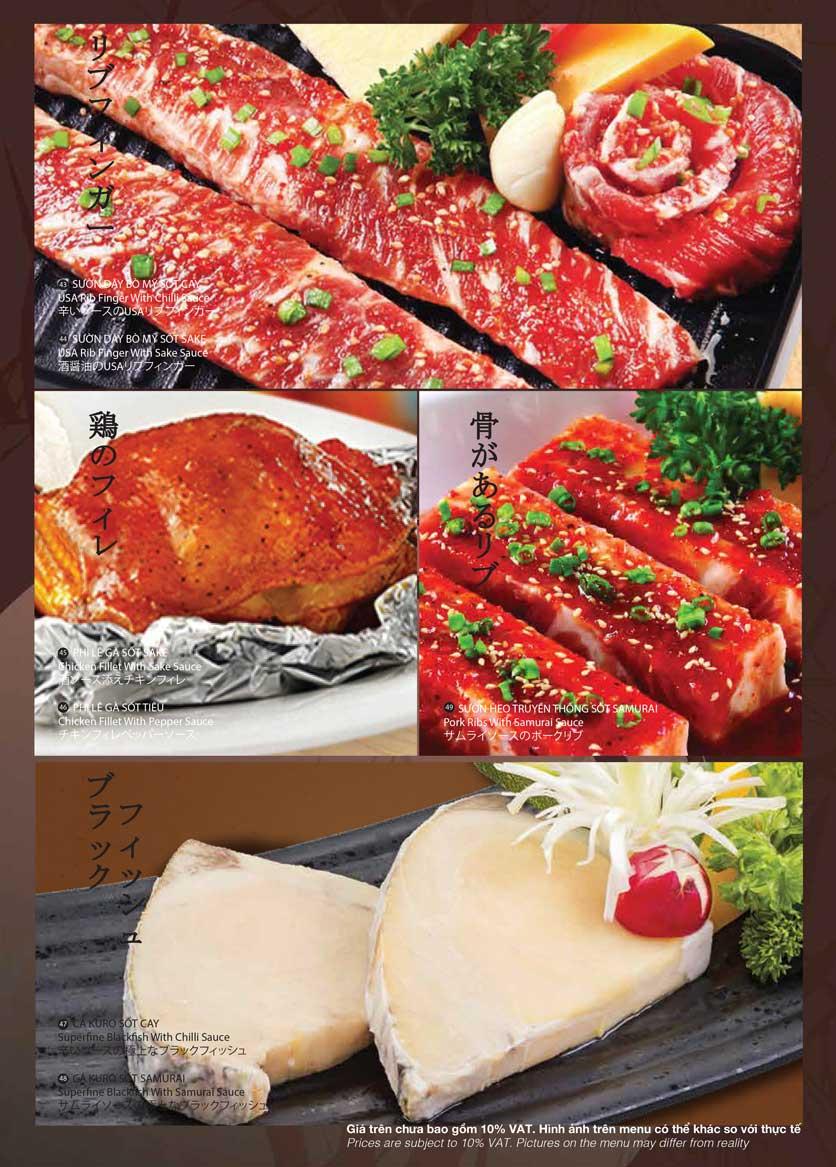 Menu Samurai BBQ - Âu Cơ  10