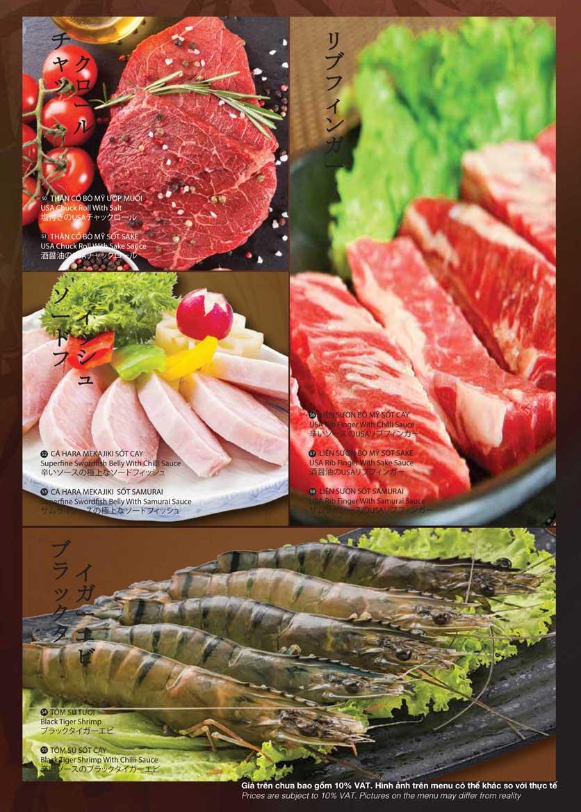 Menu Samurai BBQ - Âu Cơ  11
