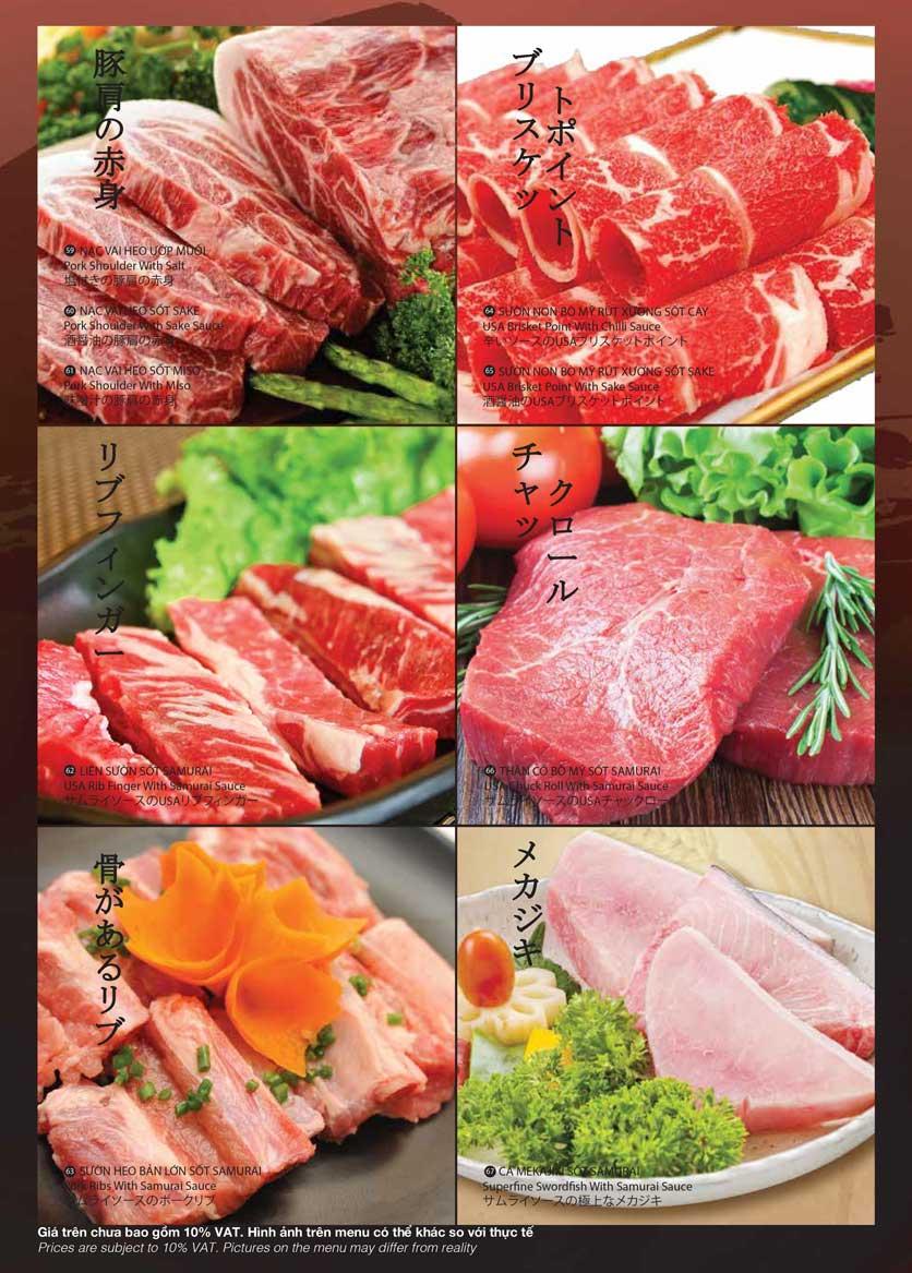 Menu Samurai BBQ - Âu Cơ  12