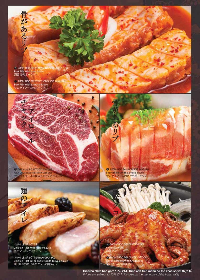 Menu Samurai BBQ - Âu Cơ  15