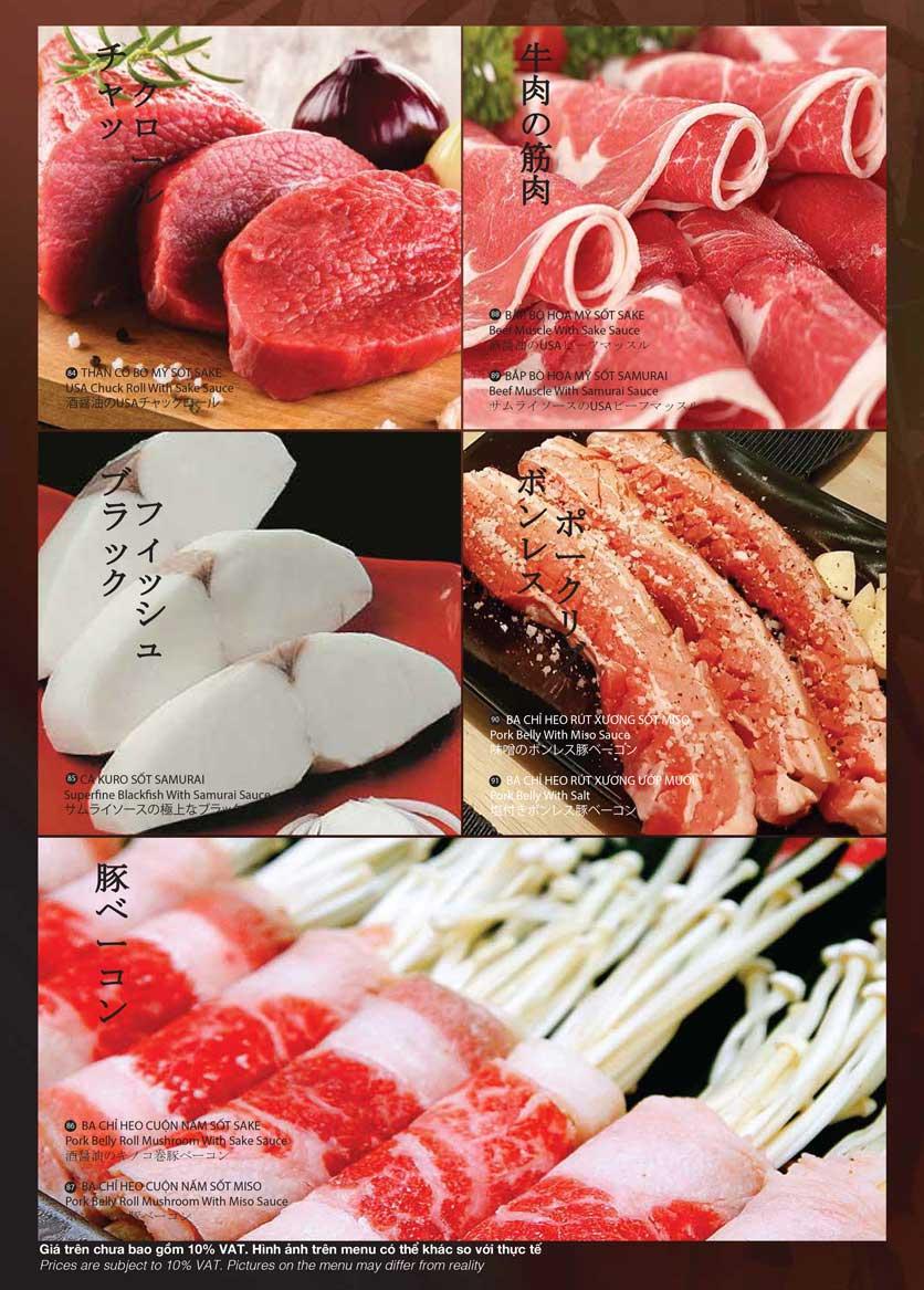 Menu Samurai BBQ - Âu Cơ  16
