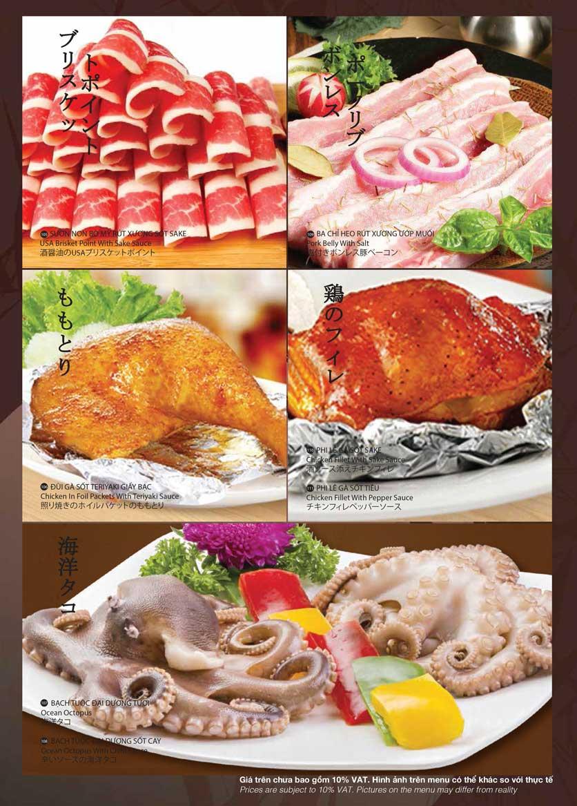 Menu Samurai BBQ - Âu Cơ  19