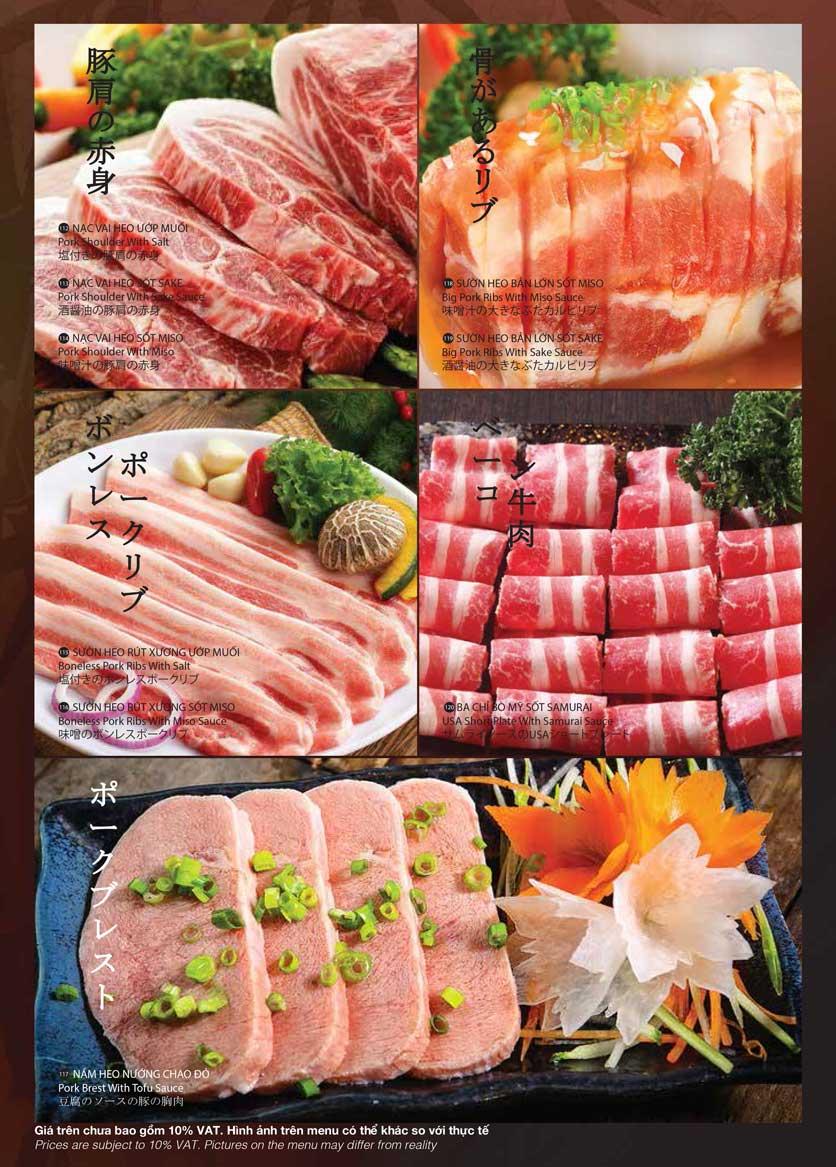 Menu Samurai BBQ - Âu Cơ  20