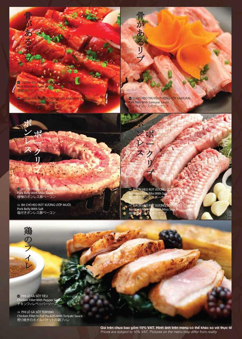 Menu Samurai BBQ - Âu Cơ  21