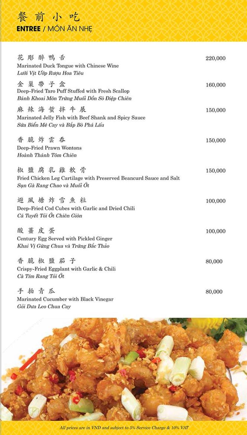 Menu Shang Palace - Lý Tự Trọng 1