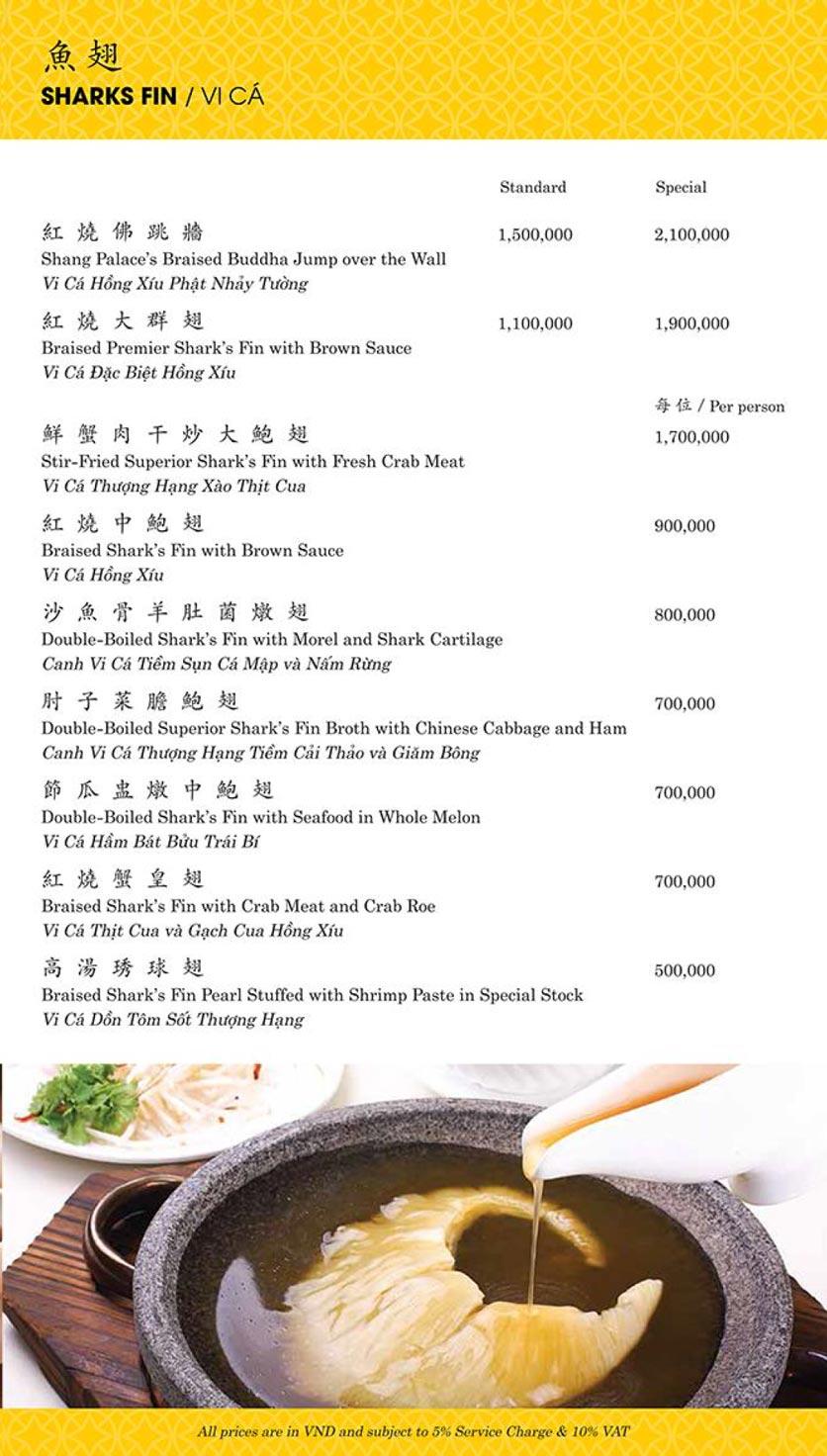 Menu Shang Palace - Lý Tự Trọng 3